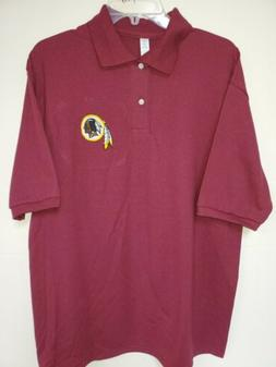 0909 Mens NFL Apparel WASHINGTON REDSKINS Polo Golf Football