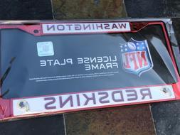 1 Washington Redskins Red Metal Vehicle License Plate Frame