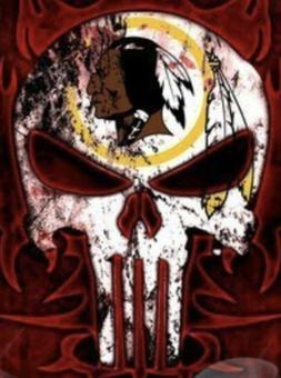 Washington Redskins Punisher Skull Car Window Stickers 5x3.