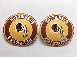 2x Washington Redskins Round Logo Car Bumper Laptop Wall Vin