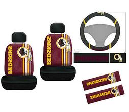 7pc NFL Washington Redskins Car Seat Covers Steering Wheel C