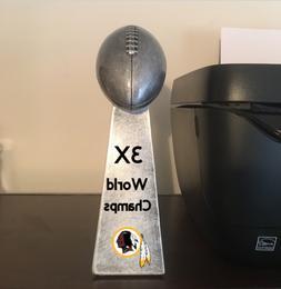 9.5  Lombardi Replica Super Bowl Trophy 3X World Champs Wash