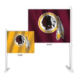 Auto Car Window Flag - NFL Washington Redskins. 2-sided.Home