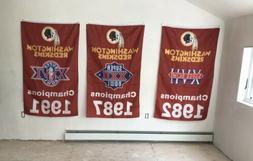 Complete Set Washington Redskins NFL Super Bowl Champions 3