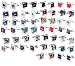 cufflinks square wedding grooms gift set nfl