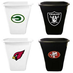 5.5 Gallon White or Black Plastic Trash Can Wastebasket NFL