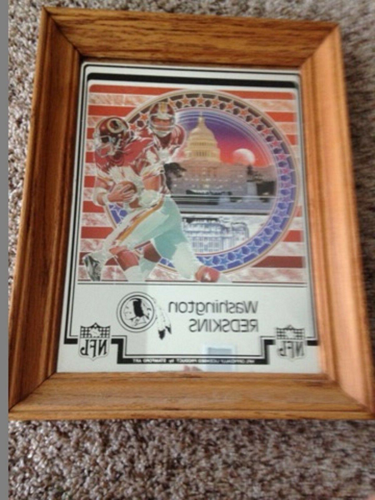 1982 washington redskins framed picture mirrored sanford