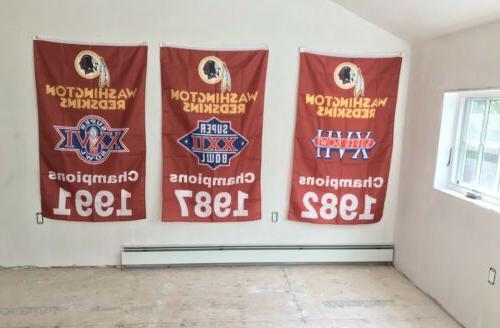 Complete Set Washington Redskins NFL 3 3'x5'