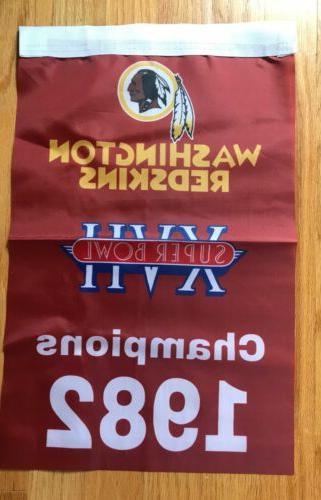 Complete Set Washington Redskins NFL Super 3 Banners/Flags