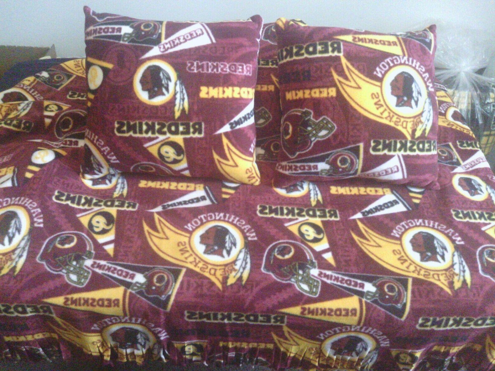 Fleece Blanket 2 Pillow Redskins