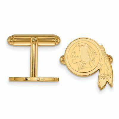 logoart gold plated washington redskins cuff links