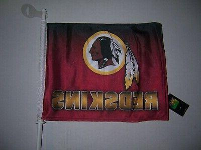 NEW WASHINGTON REDSKINS NFL CAR WINDOW FLAG