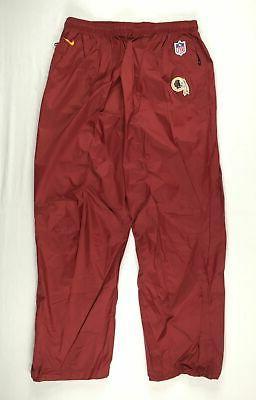 new washington redskins maroon nylon athletic pants