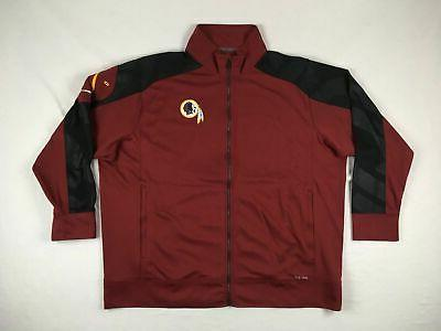 new washington redskins maroon poly jacket 4xl