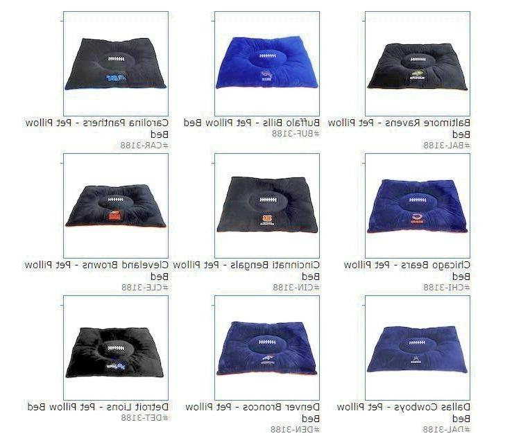 nfl embroidered pet pillow bed 30 x20