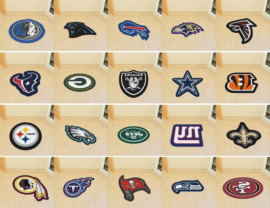 nfl mascot mat area rugs choose team