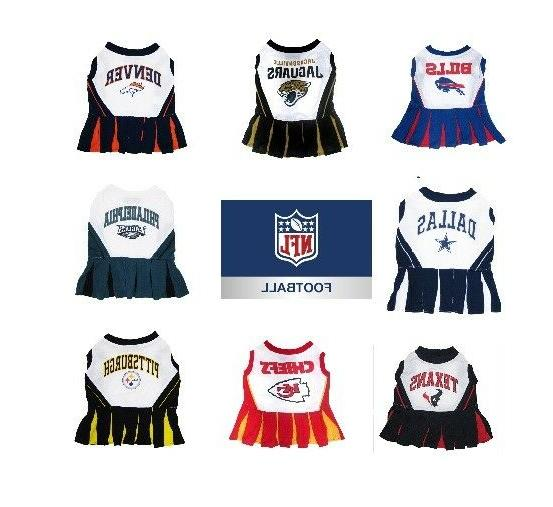nfl pet cheerleader dress xsm med size