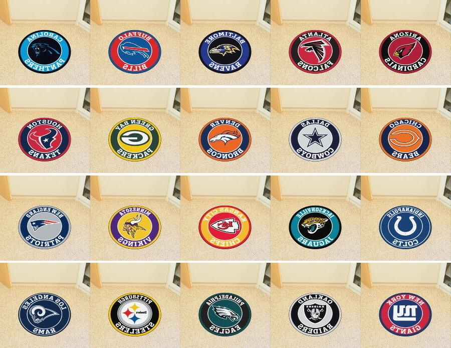 nfl roundel mat round area rugs choose