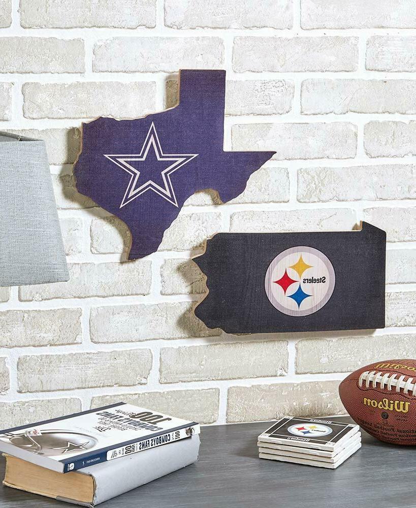NFL State Art Football Man Cave Decor