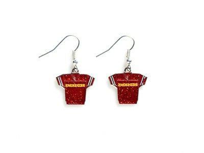 NFL Washington Redskins Glitter Jerseys Sparkle Dangle logo