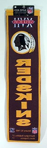 NFL Washington Redskins Super Bowl XVII Banner