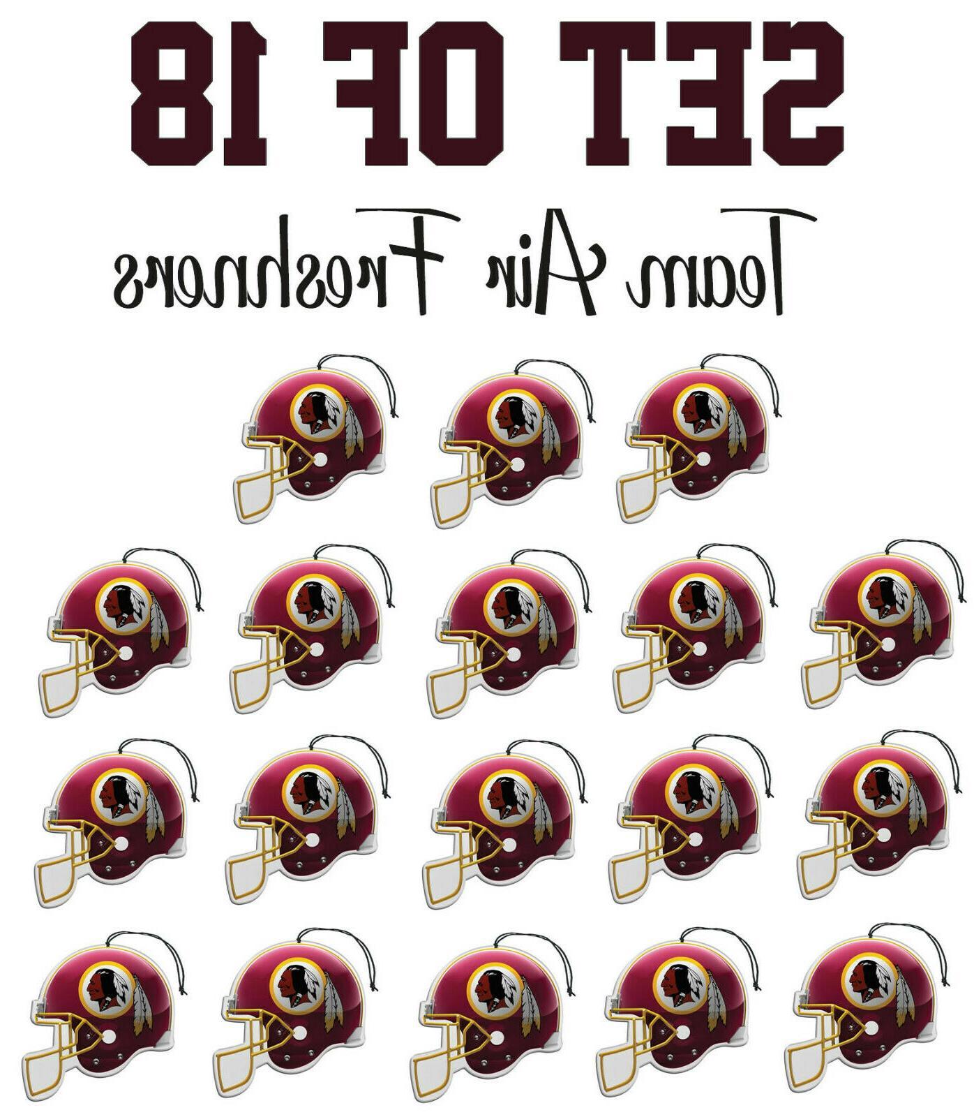 set of 18 washington redskins team helmet