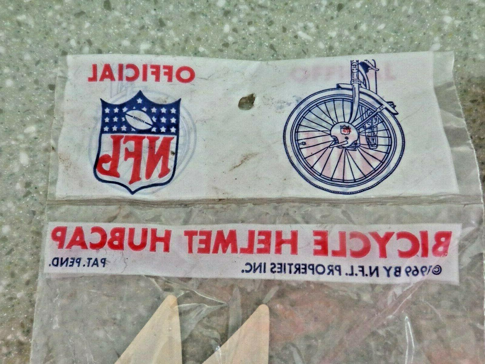 Vintage NFL Washington Redskins Bicycle Hub Cap Helmets You Get 2 Rare !!!