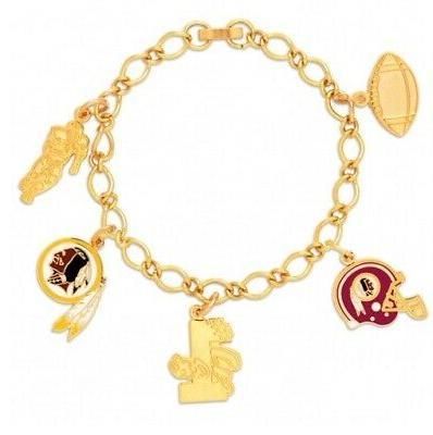 washington redskins 5 piece charm bracelet new