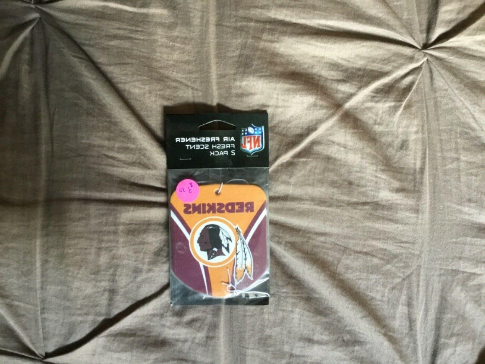 washington redskins air freshener 2 pack