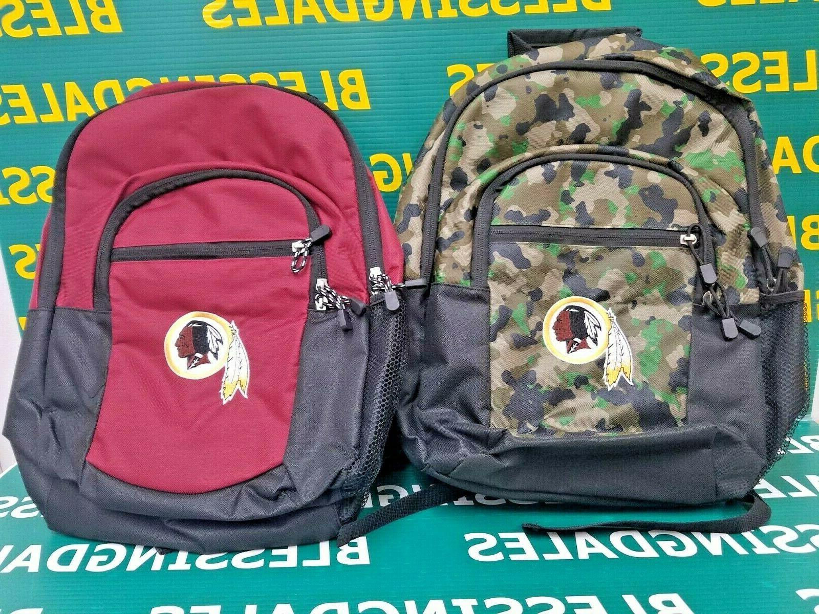 washington redskins backpack by burgundy black or