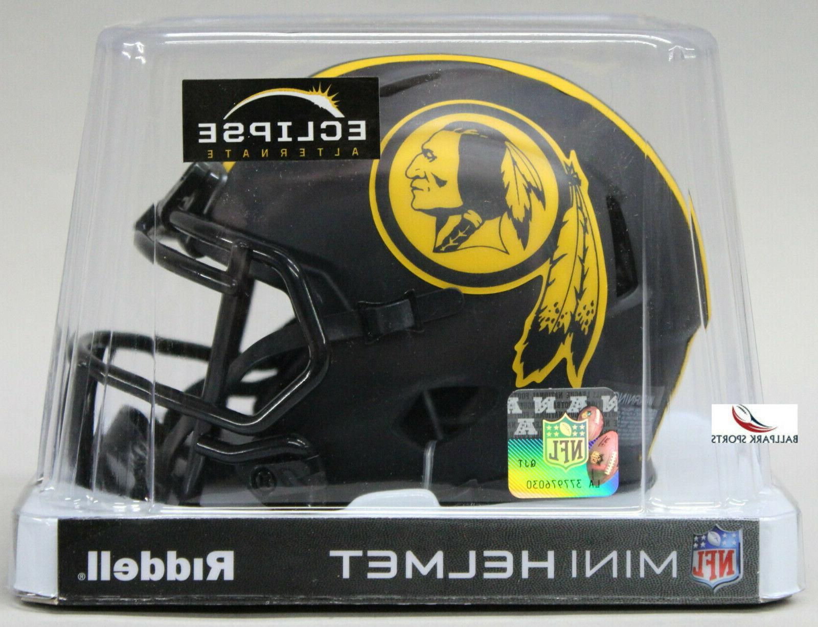 WASHINGTON REDSKINS - Black Eclipse Riddell Speed Mini Helme