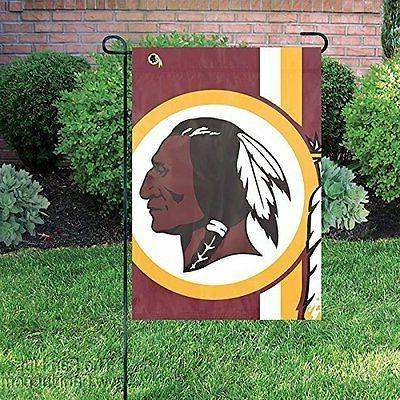 washington redskins bold logo garden flag window