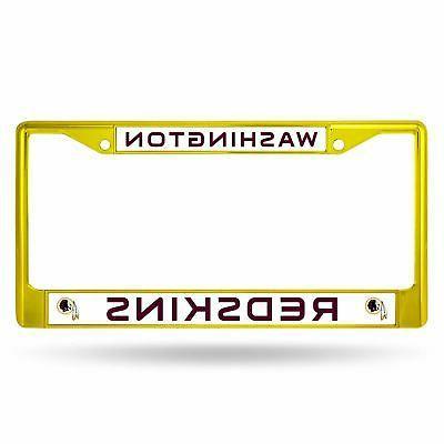 washington redskins chrome license plate frame tag