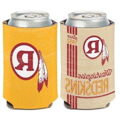 washington redskins classic logo neoprene can bottle
