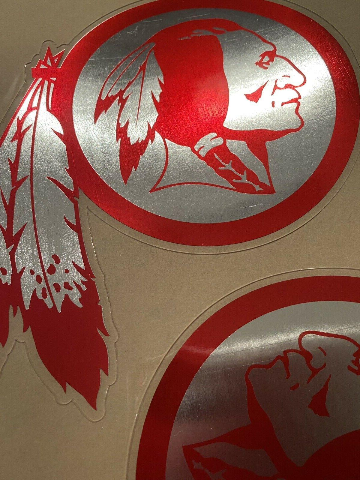 Washington Custom Red Football Helmet Decals 3 mil