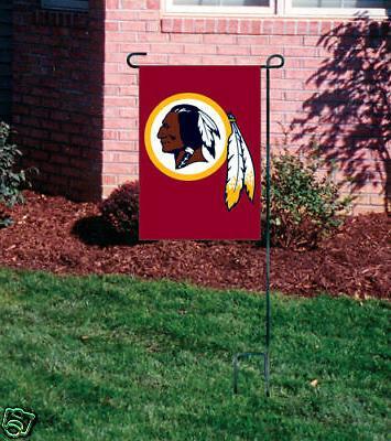 washington redskins embroidered garden window flag w