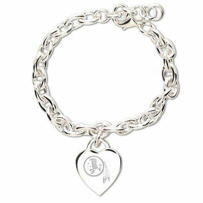 washington redskins heart charm bracelet new