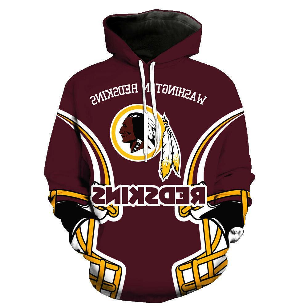 Washington Redskins Hoodies Men's Sweatshirts Pullover Hoode
