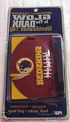 Washington Redskins ID Luggage Back Pack Tag NEW