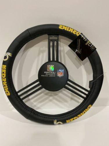 washington redskins leather steering wheel cover new