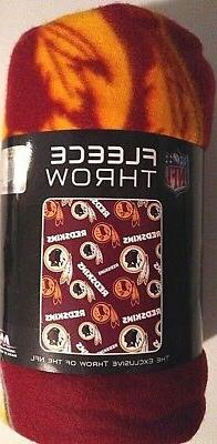 "WASHINGTON REDSKINS NFL Logo Fleece Throw Blanket 40""x50"" -"