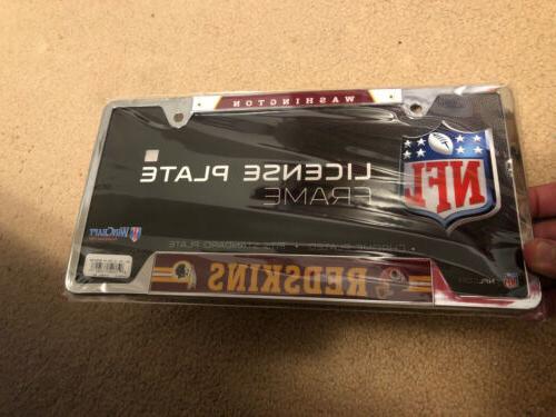 washington redskins metal license plate cover nfl