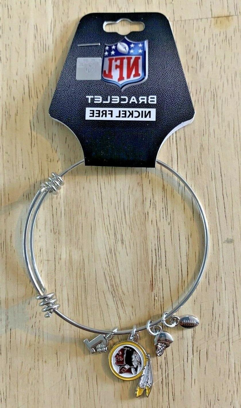 washington redskins nfl charm bangle logo bracelet