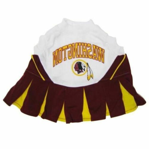 washington redskins nfl cheerleader pet dog dress
