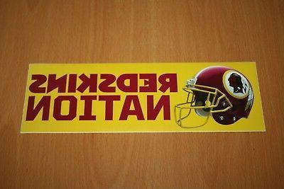 washington redskins nfl football bumper sticker 9