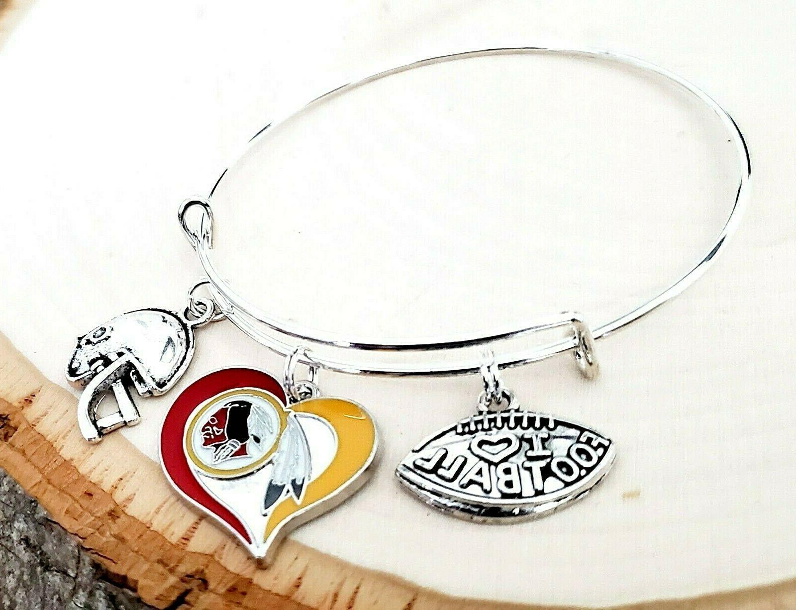 Washington NFL Charm Bracelet