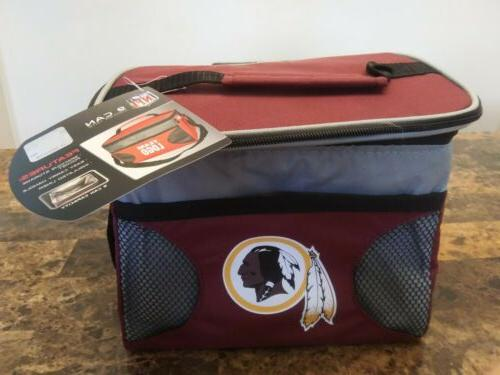 washington redskins nfl insulated lunch 9 can