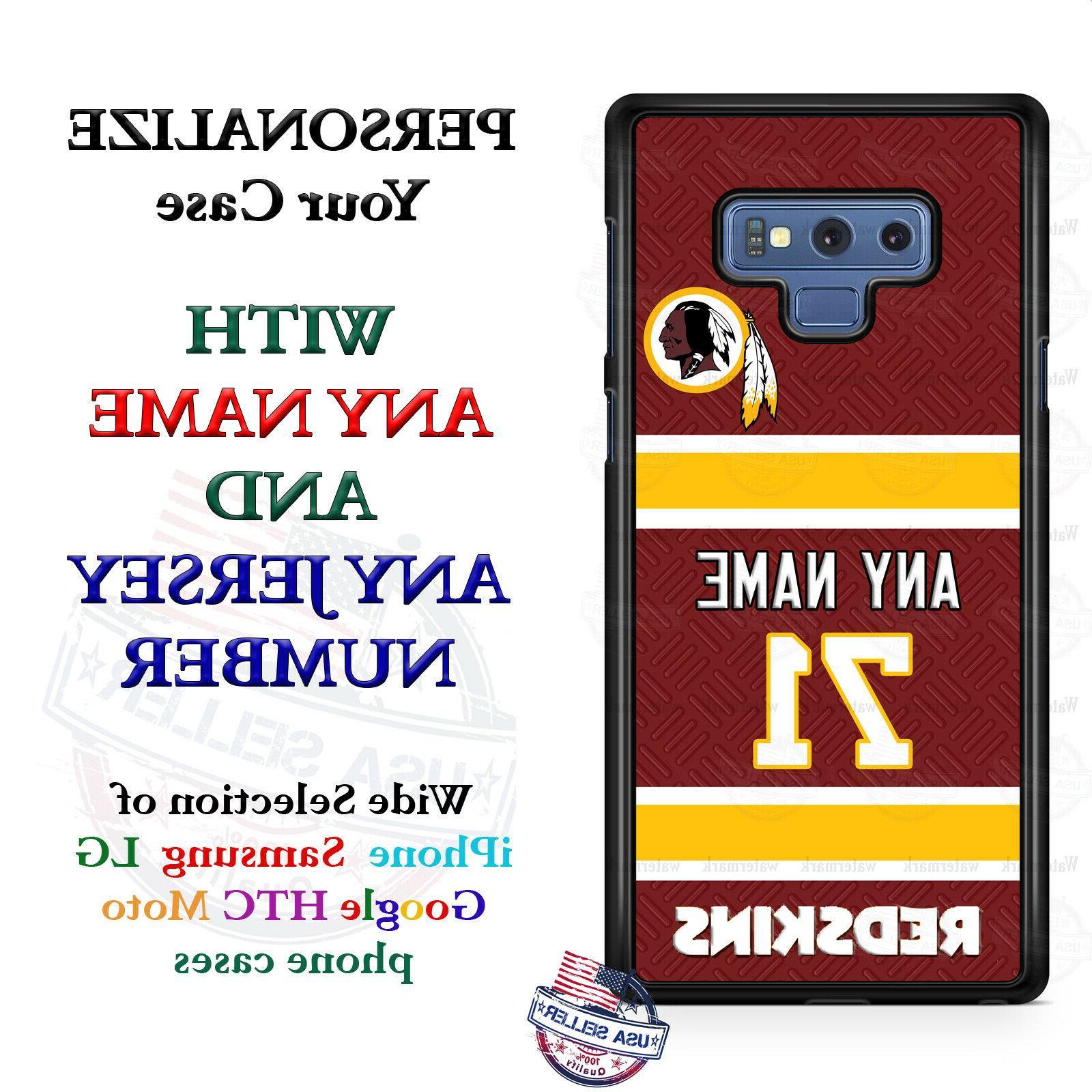 WASHINGTON REDSKINS FOOTBALL PHONE CASE FITS iPHONE SAMSUNG
