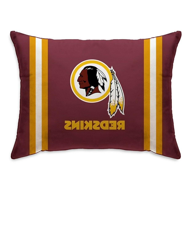 washington redskins plush bed pillow nfl football