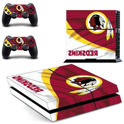 Washington Redskins PS4 Skin Sticker Decal Vinyl Console+2 c